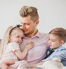 Father with his children