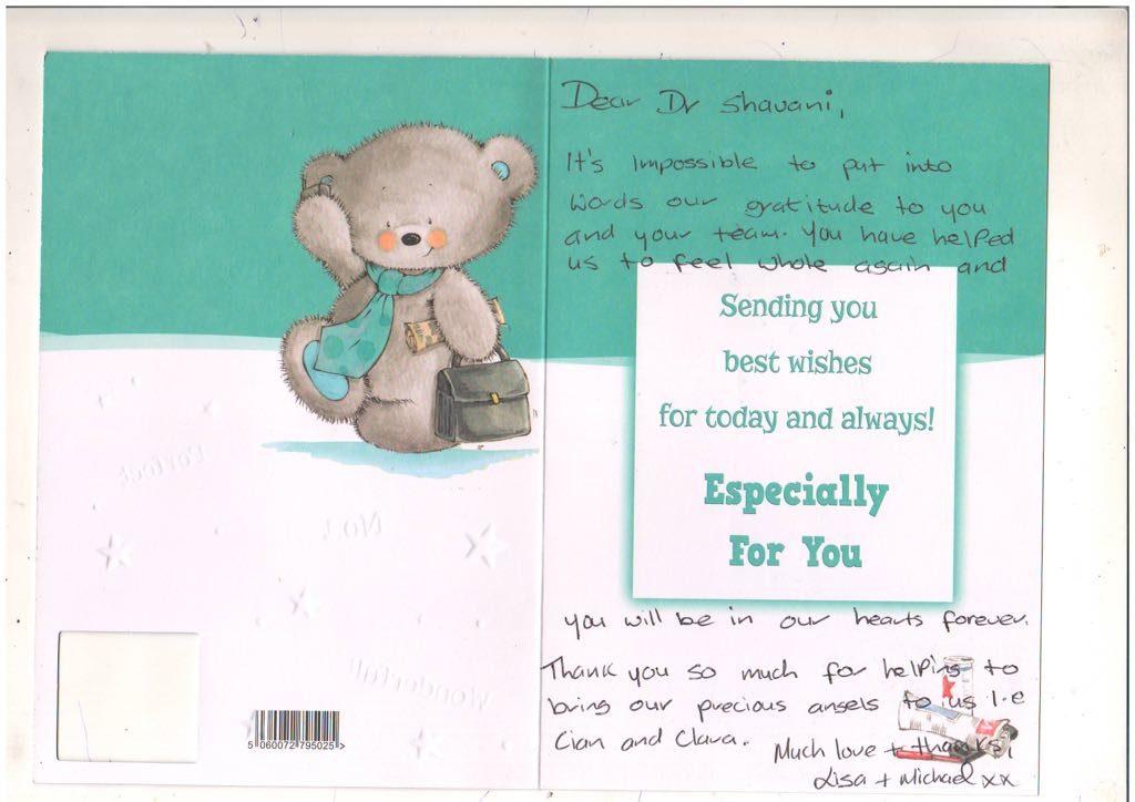 Lisa and Michael wishes Dr Shivani