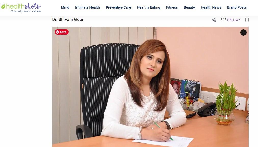 Dr Shivani Sachdev Gour post in healthshots